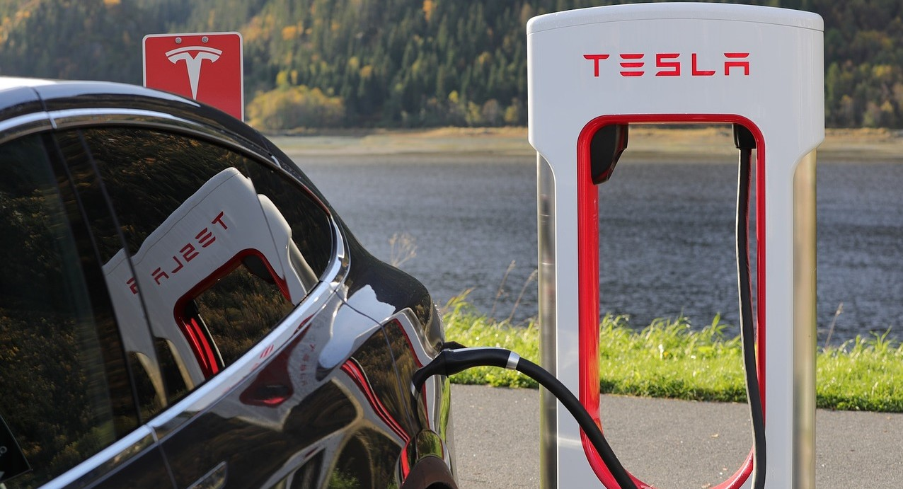 Tesla electric vehicle charger