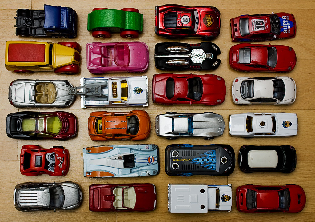 toy cars on a table