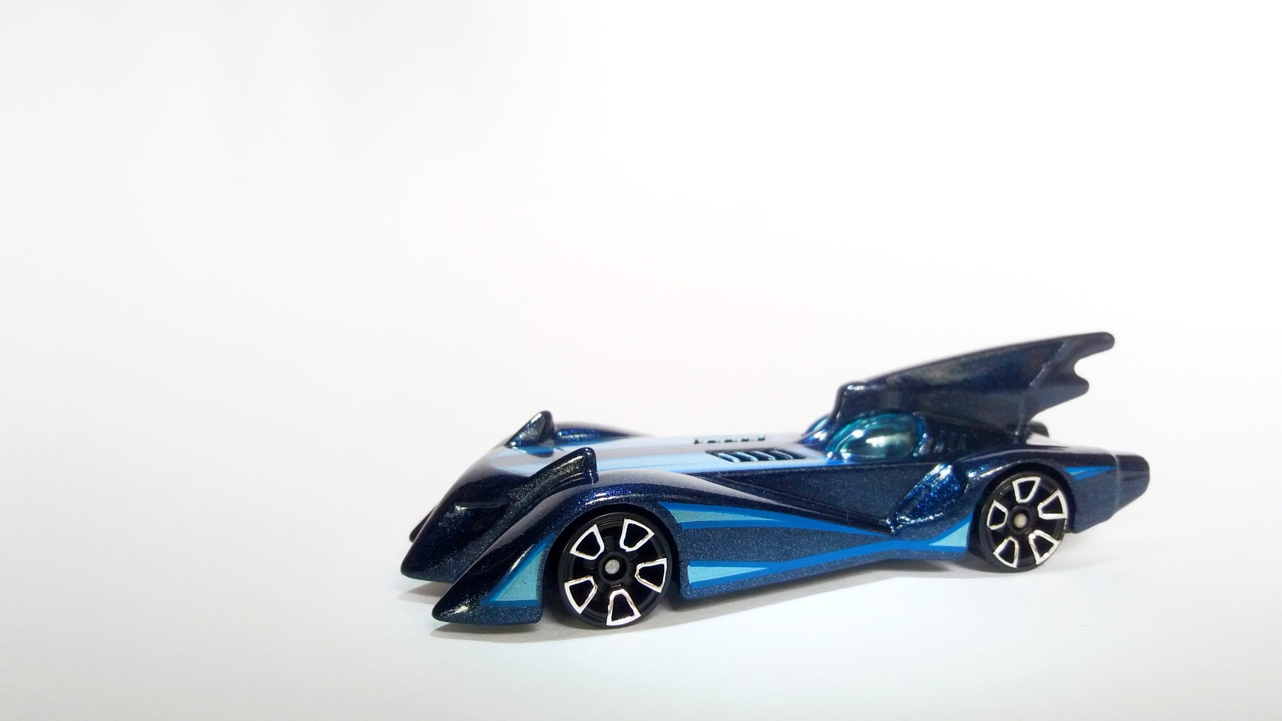 Blue Diecast Batmobile