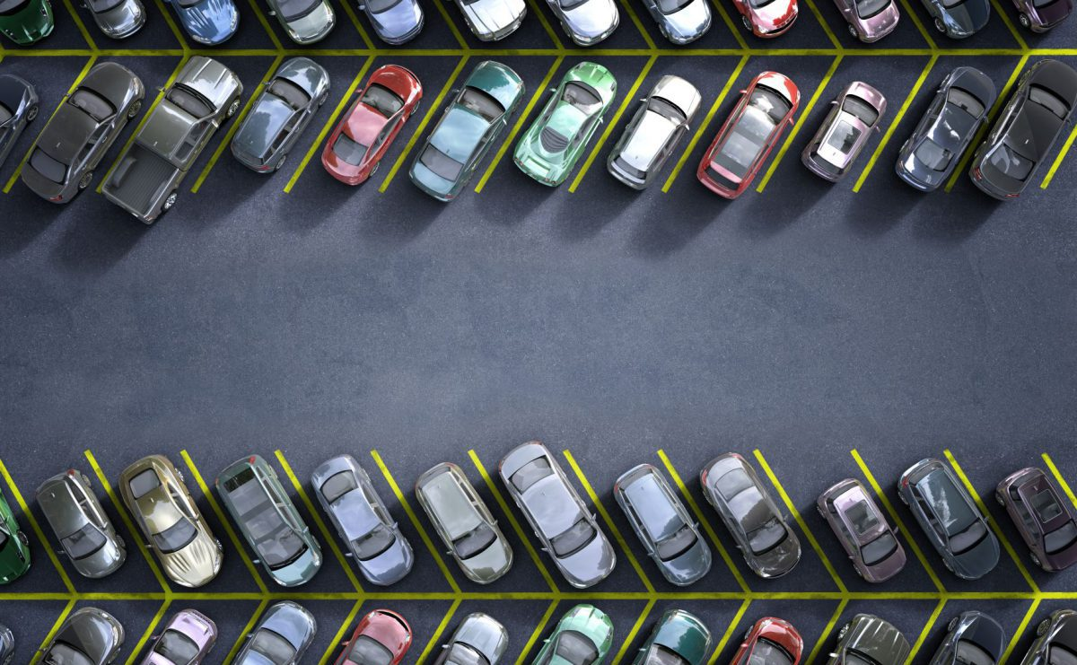 Rows of cars in a car park